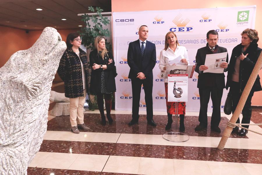 """23-03-2018 Inauguración da exposición """"Nado en pedra. Formas e figuras"""""""