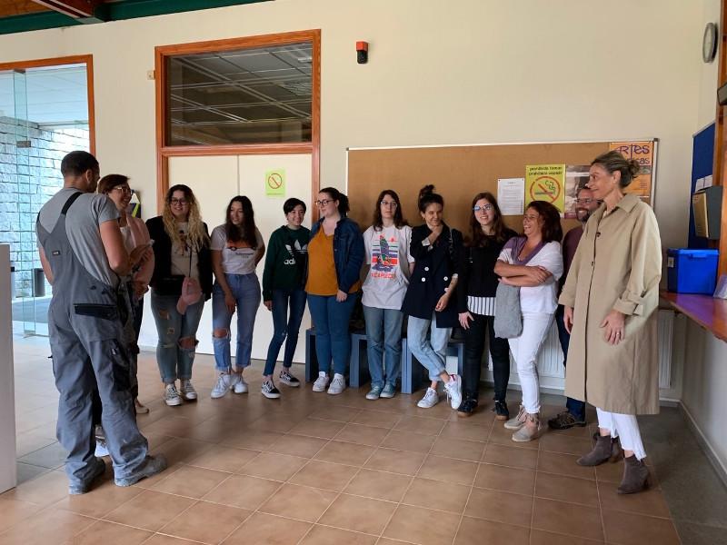 03-06-2019 Visita a Escola de alumnos de Restauracion