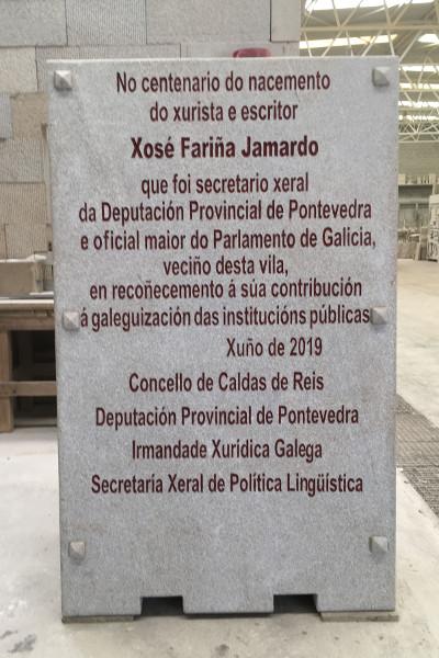 06-06-2019 Monolito Xose Fariña Jamardo -Caldas de Reis