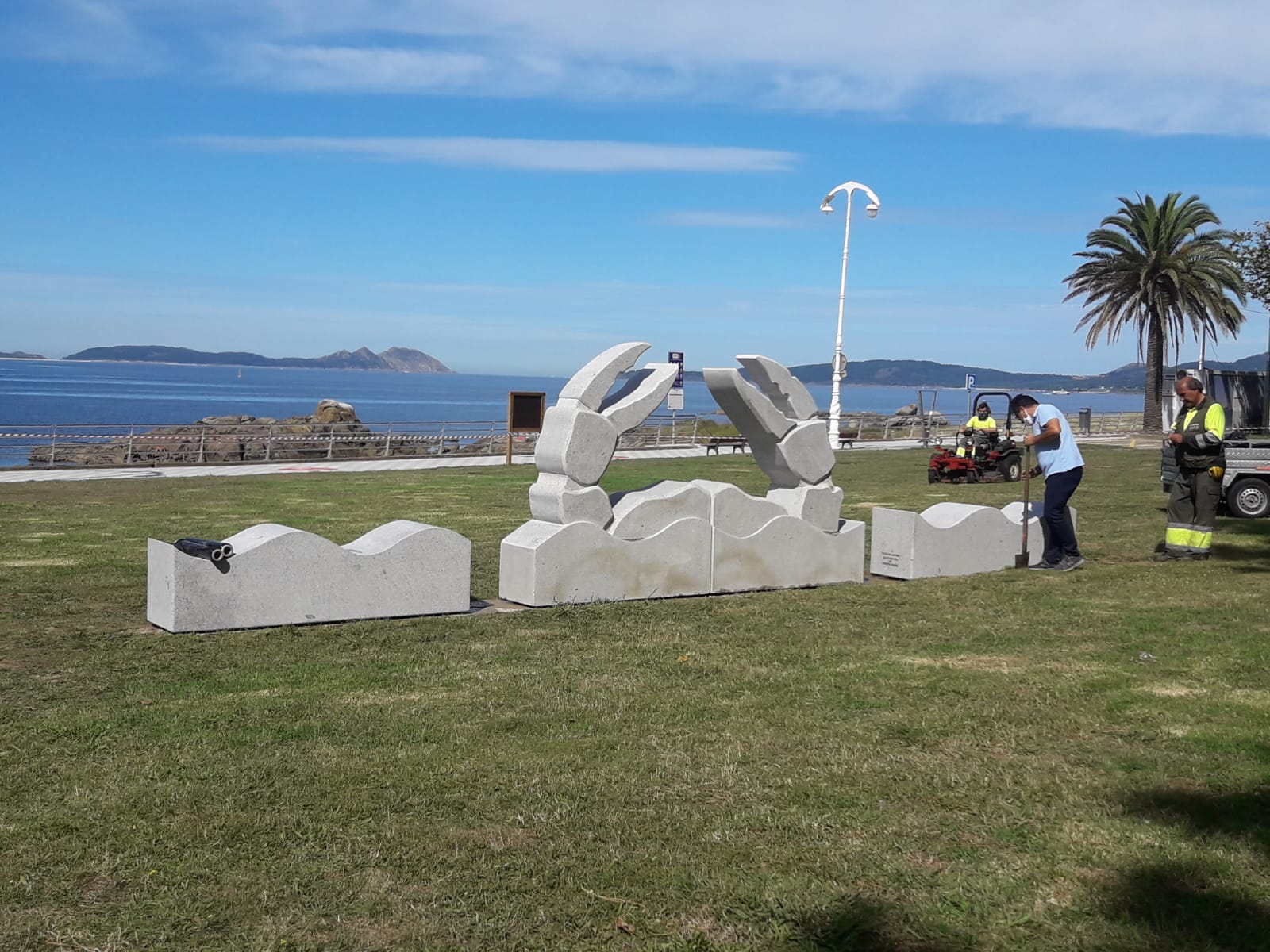 Conxunto escultorico Samil. Vigo